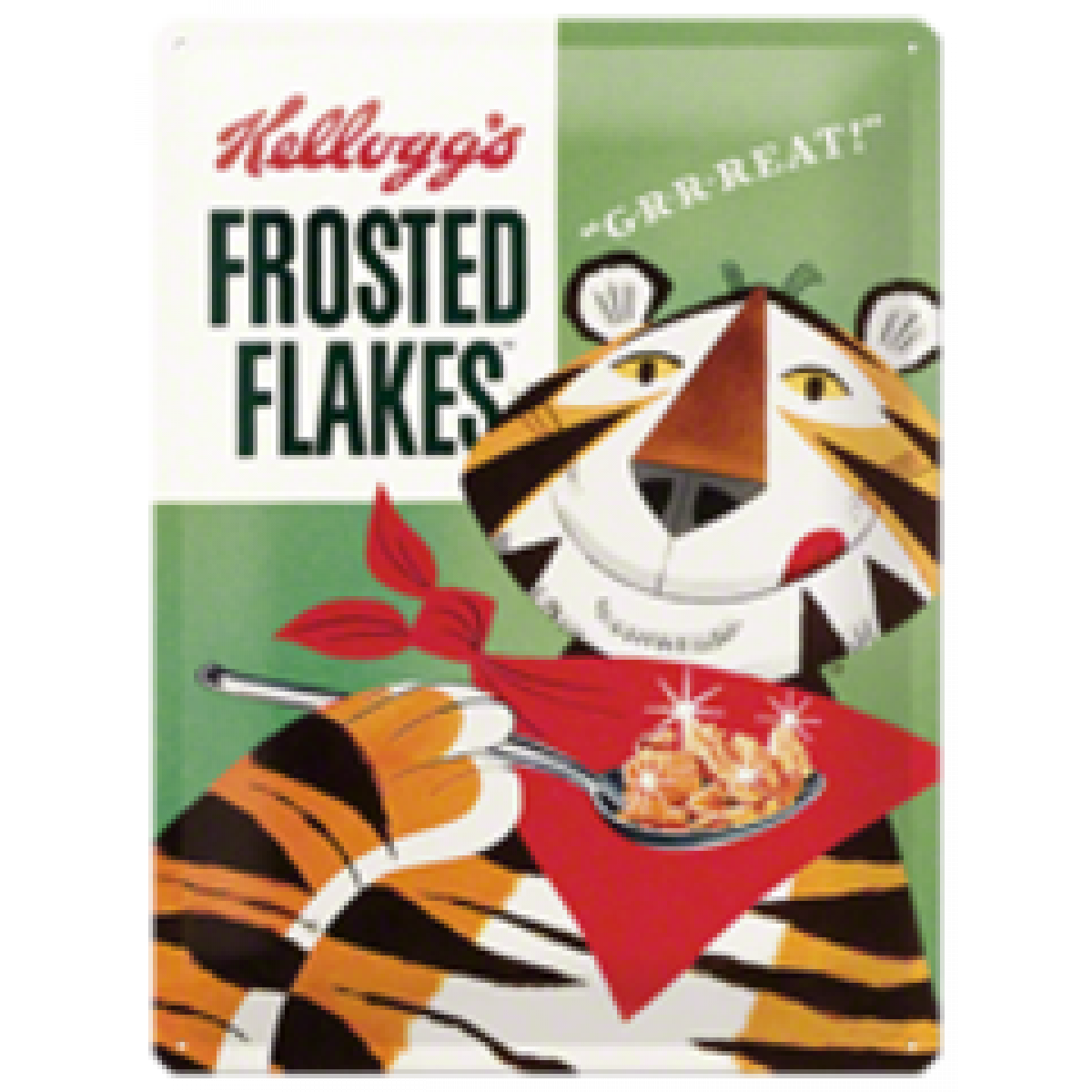 Kelloggs Frosted Flakes Tin Sign Man Zone Gift Ideas Corn Deal