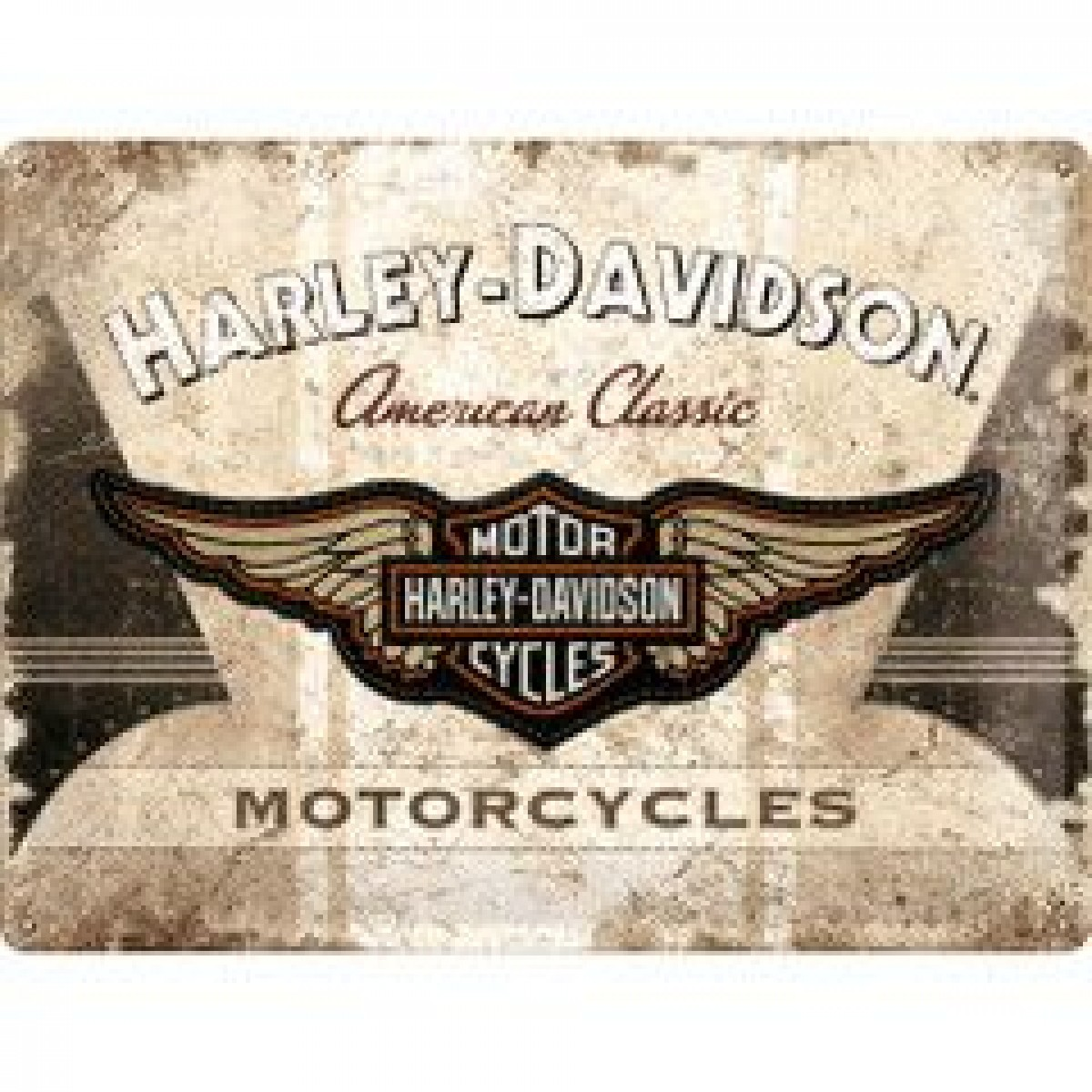 Harley Davidson Wings Embossed Tin Sign Signs Man Zone