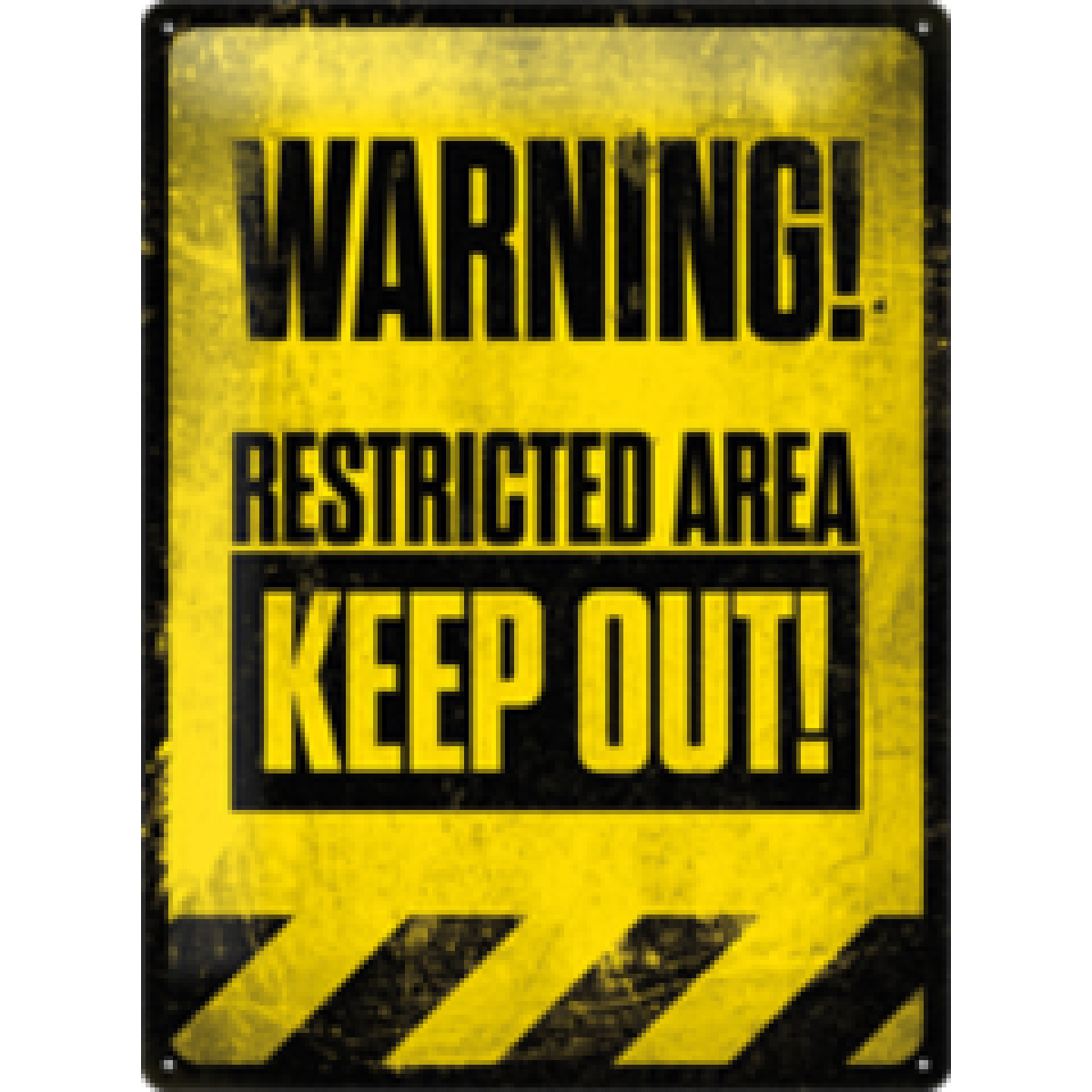 Man Cave Signs Sydney : Warning restricted area tin sign man cave signs