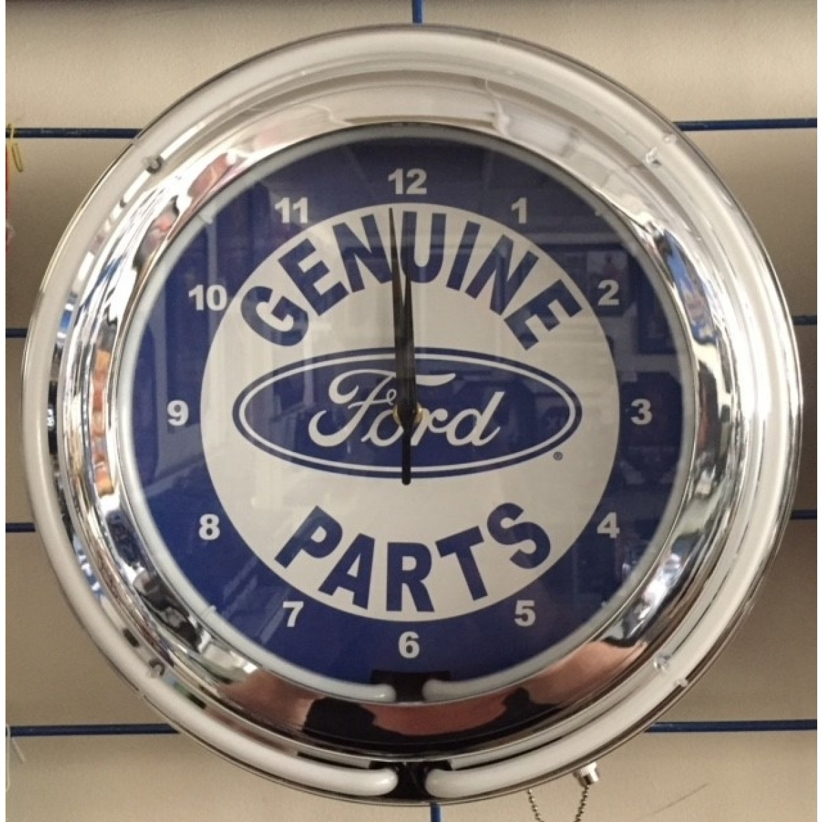 Ford Double Neon Wall Clock