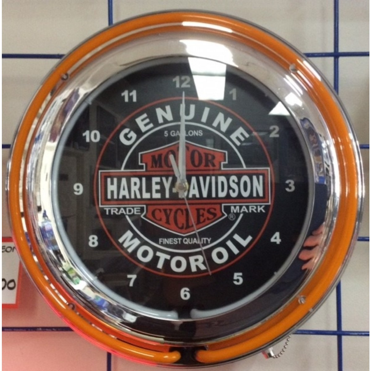 harley davidson motor oil double neon wall clock - mens gifts - man