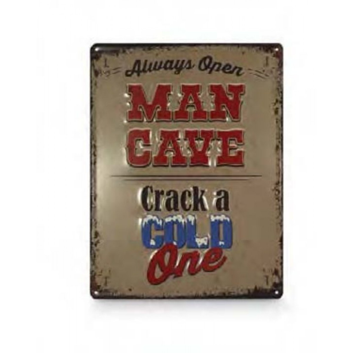 Man Cave Tin Signs : Man cave crack a cold one tin sign alcohol signs