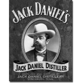 JACK DANIEL'S PORTRAIT TIN SIGN