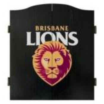 AFL BRISBANE DARTBOARD WITH CABINET