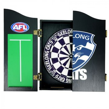 AFL GEELONG DARTBOARD WITH CABINET
