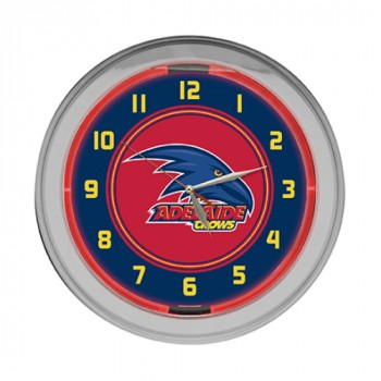 ADELAIDE CROWS NEON CLOCK