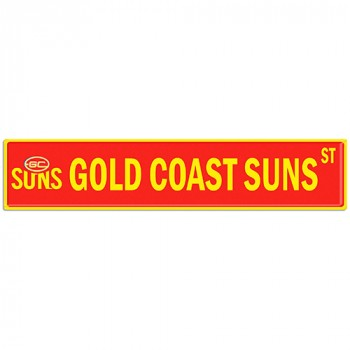 AFL GOLD COAST SUNS STREET SIGN