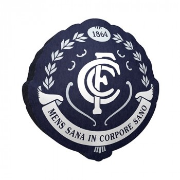 AFL CARLTON LOGO CUSHION