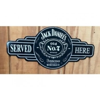 JACK DANIEL'S SERVICE STATION TIN SIGN