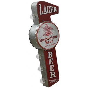BUDWEISER LAGER OFF THE WALL TIN SIGN