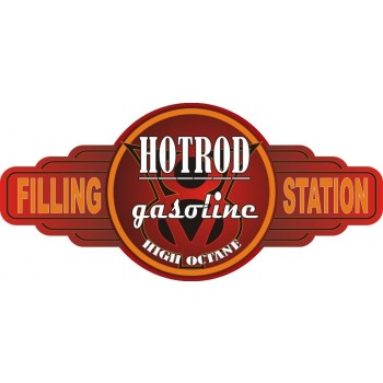 HOT ROD SERVICE STATION TIN SIGN