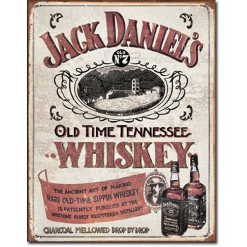 JACK DANIEL'S OLD TIME TENNESSEE TIN SIGN