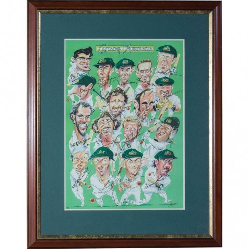 Man Cave Gifts Australia : Captains of australia signed characters cricket