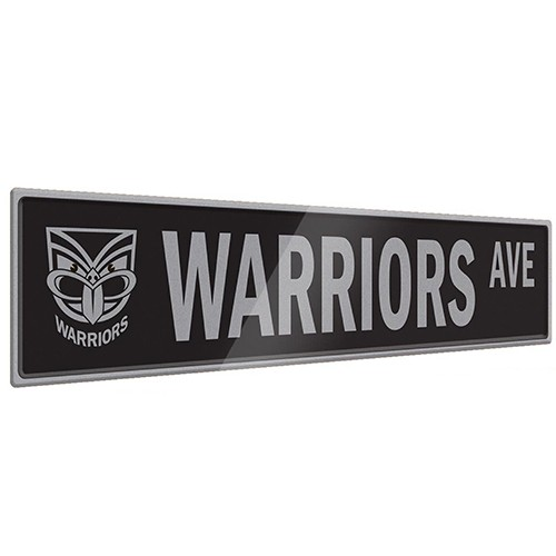 Man Cave Signs Nz : Warriors street sign tin signs man zone gift