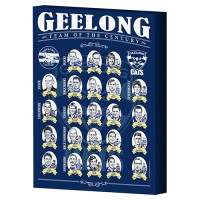 GEELONG AFL TEAM OF THE CENTURY CANVAS