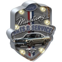 FORD MUSTANG LIGHT-UP TIN SIGN