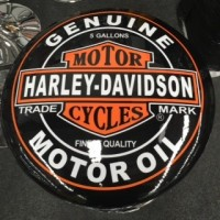 HARLEY DAVIDSON MOTOR OIL BLACK BAR STOOL