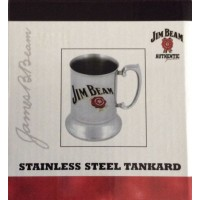 JIM BEAM STAINLESS STEEL TANKARD