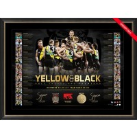YELLOW & BLACK DUAL LITHOGRAPH SIGNED BY DUSTIN MARTIN & TRENT COTCHIN
