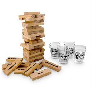 DRUNKEN TOWER - THE GRAB A PIECE DRINKING GAME