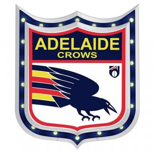 AFL ADELAIDE CROWS LIGHT-UP TIN SIGN