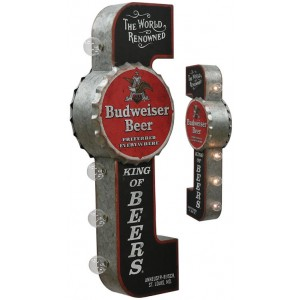 BUDWEISER KING OF BEER OFF THE WALL TIN SIGN