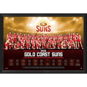 GOLD COAST 2016 TEAM POSTER FRAMED