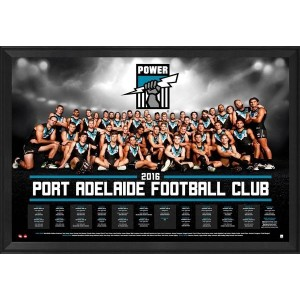 PORT ADELAIDE 2016 TEAM POSTER FRAMED