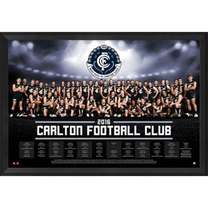 CARLTON 2016 FRAMED TEAM POSTER