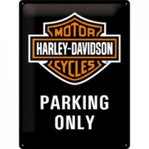 HARLEY DAVIDSON PARKING ONLY EMBOSSED TIN SIGN