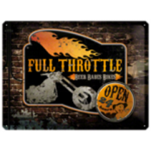 FULL THROTTLE TIN SIGN