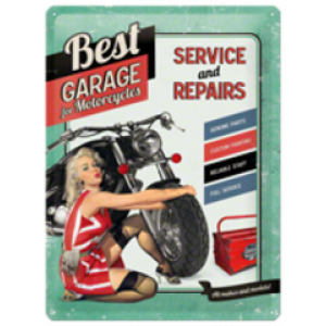 BEST GARAGE SERVICES TIN SIGN