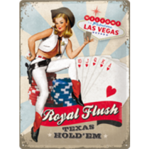 ROYAL FLUSH TIN SIGN