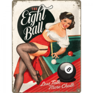 EIGHT BALL TIN SIGN