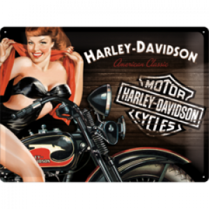 HARLEY BIKER BABE TIN SIGN