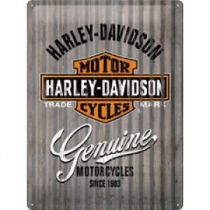 HARLEY DAVIDSON METAL WALL TIN SIGN