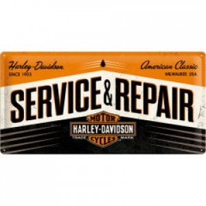 HARLEY SERVICE & REPAIR LONG TIN SIGN