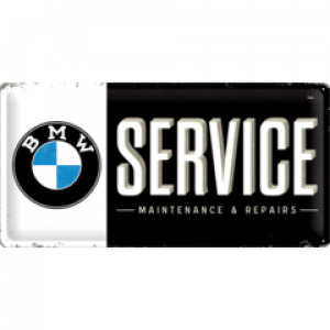 BMW SERVICE LONG TIN SIGN