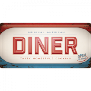 AMERICAN DINER LONG TIN SIGN