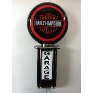 HARLEY ILLUMINATED WALL MOUNTED GARAGE SIGN