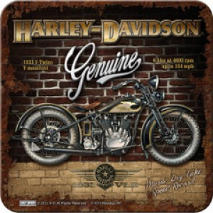 HARLEY BRICK WALL SINGLE COASTER