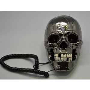 BLACK SKULL TELEPHONE