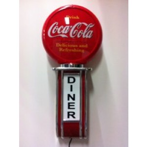 COCA COLA ILLUMINATED WALL MOUNTED GARAGE SIGN