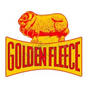 GOLDEN FLEECE DOG BONE STEEL SIGN