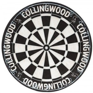 AFL COLLINGWOOD DARTBOARD