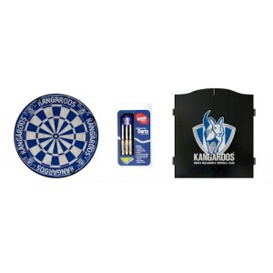 AFL KANGAROOS DART BOARD WITH CABINET