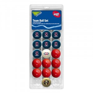 AFL MELBOURNE POOL BALLS TEAM Vs COLOUR - 16 BALL PACK