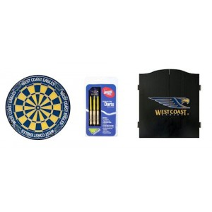 AFL WEST COAST DART BOARD WITH CABINET