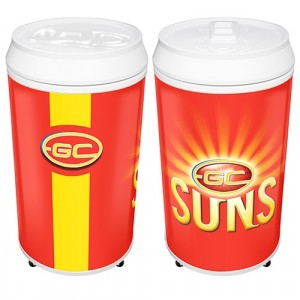AFL GOLD COAST SUNS COOLA CAN BAR FRIDGE