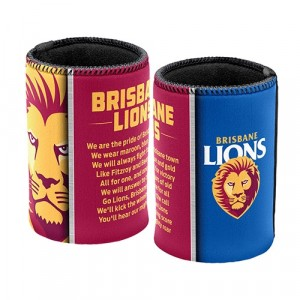AFL BRISBANE LIONS TEAM SONG STUBBY HOLDER